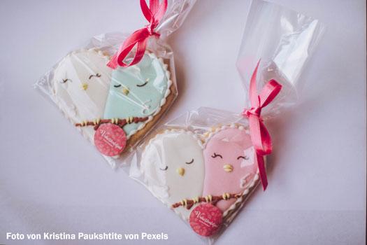 Kekse in durchsichtige Folien verpackt